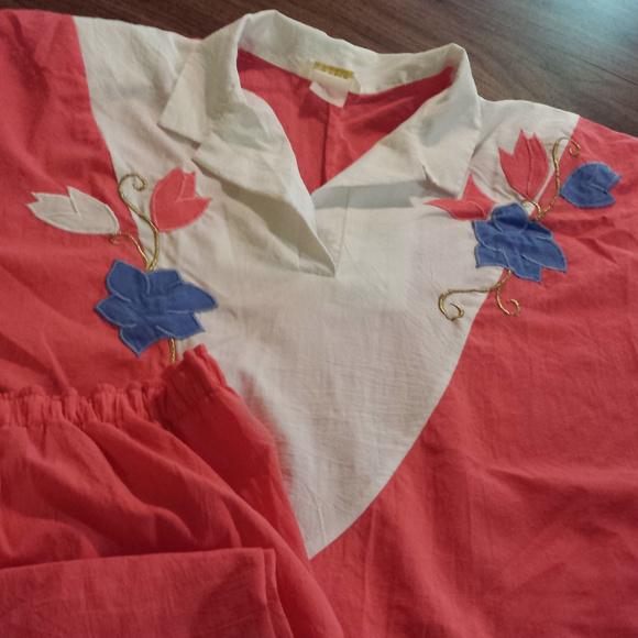 dk gold Tops - Peach & White Light Women's 16 Tall Elastic Pants